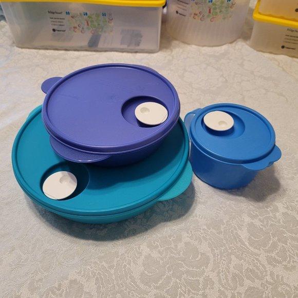 Tupperware CrystalWave Bowl & Cup Set